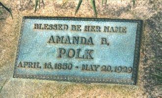 Amanda B. Polk Headstone, Washington