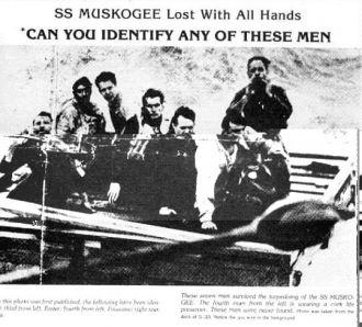 Liferaft of USS Muskogee