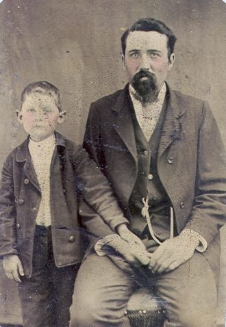 Father & Son - Vintage tintype photo