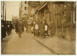 Some of Newark's small newsboys. Afternoon. Location:...