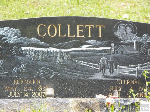 Bernard and Sternal Collett Gravesite