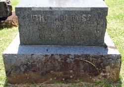 Ethel  Ada (Rickard) Ross headstone