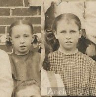 Edith and Rowena Marsh, schoolgirls