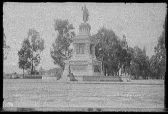 Statue of Cuitlahuac [i.e. Cuauhtemoc]