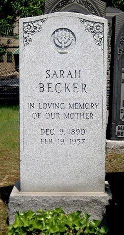Sarah Libby (Shapiro ) Becker Gravesite