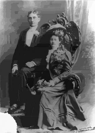 Charles & Lucinda (Woelfel) Lentz, 1900