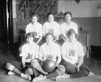 War risk basketball team, 1921