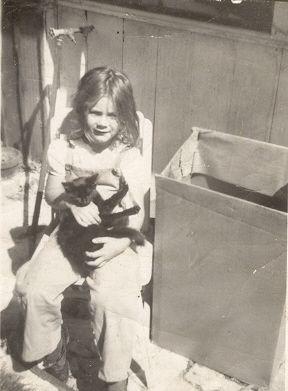 Carole Ann Nelson in 1947