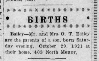 Owen Timothy Bailey - Son's Birth