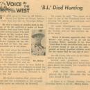 Byram Lee Bybee Article
