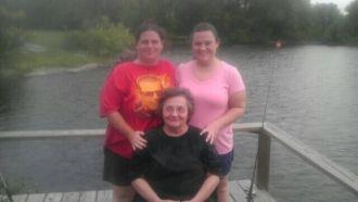 Doris M Layman with family