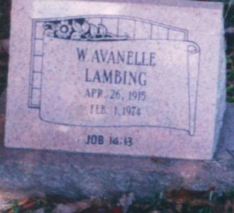 Wilma Avanelle Lambing Gravesite