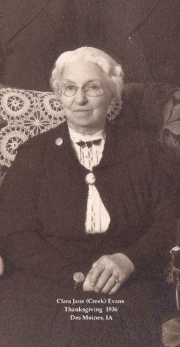 Clara Jane (Creek) Evans