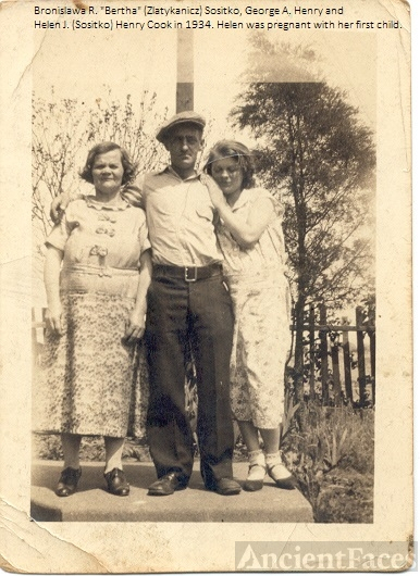 George Henry and Bertha and Helen Sositko, 1934