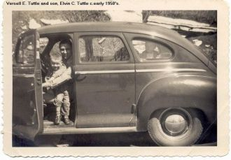 Versell Tuttle and son, Elvin