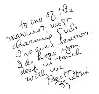 Zelda (Zee Zee) Kerner's handwriting.