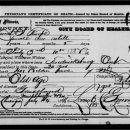 Harriet Seymour death certificate