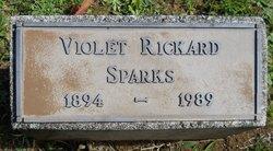 Violet Moyle (Rickard) Sparks headstone