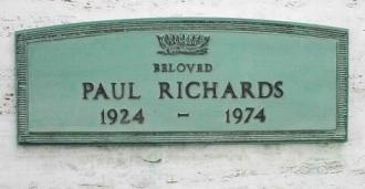 His grave.
