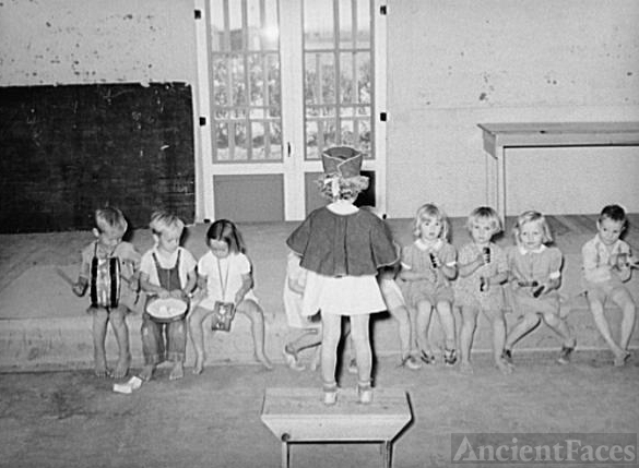"""Children's """"band"""" at the WPA"""
