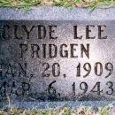 Gravestone of Clyde Lee Pridgen