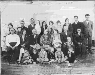 Ellison Family reunion, 1928 Texas