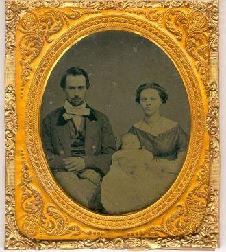 Edwin, Abigail, & Flora Perkins Family 1860