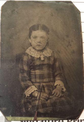 tin photo of unknown girl