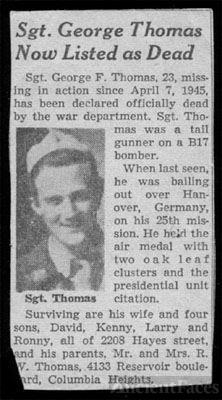 George F Thomas Obituary