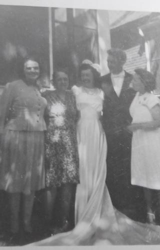 Louise Jacob, Fern, John, Vera Sharkey