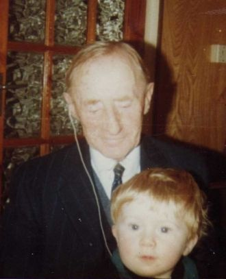 Albert, son of Thomas Kane, with his great-great-grandson Paul