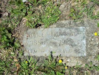 Lovicey Hatfield gravesite