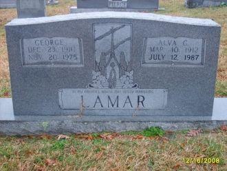 George & Alva Lamar gravesite