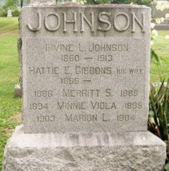 "Irvine Leroy ""Irving"" Johnson gravesite"