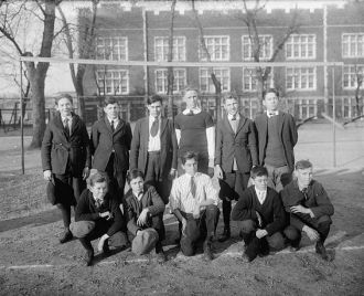 Price School soccer team, 1920
