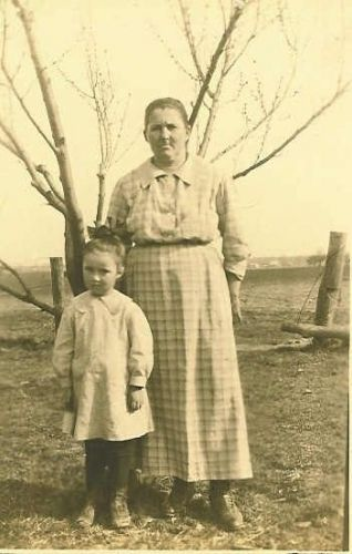 Madeline Neal With Her Mother Rose (Carr) Neal