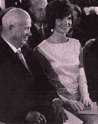Jackie Kennedy and Khrushchev