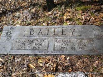 Charlie and Dora (Brewster) Bailey gravesite