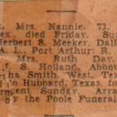 """Nancy Ann """"Nannie"""" (Holland) Meeker Obituary"""