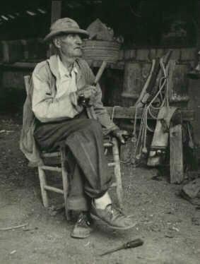Papa at the barn