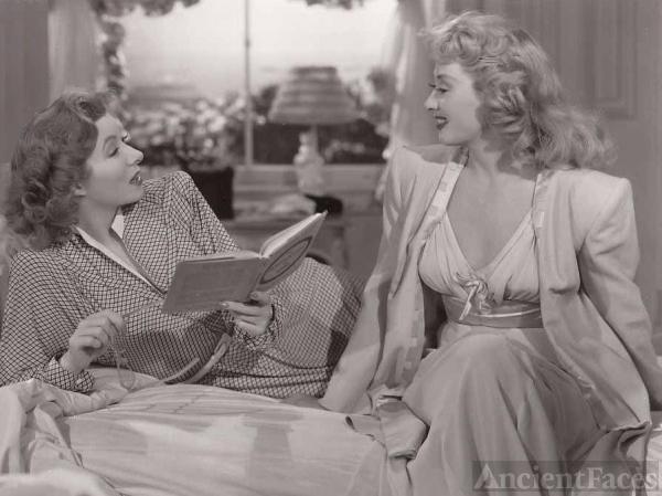 Joan Blondell and Greer Garson