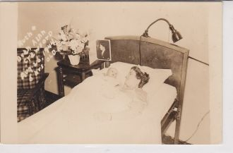 Ruth Crawford and baby Dean Alan Crawford