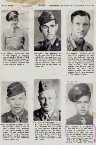 ted stafford's Service Book, WW II, Kansas