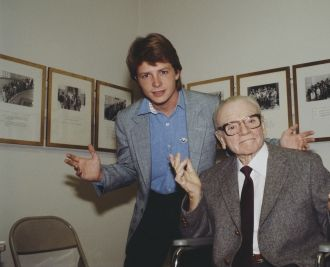 James Cagney and Michael J. Fox