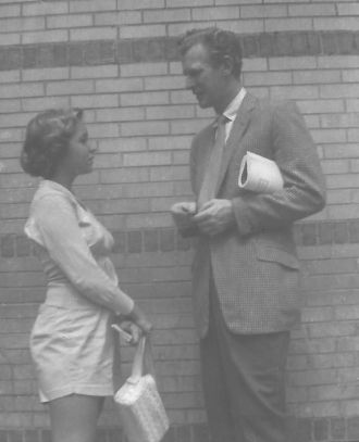 Edward Mulhare and Amanda Stevenson