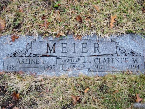 Arlene and Clarence Meier gravesite