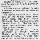 Clinton Carol Cole - Obituary