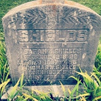 Thomas Nesbitt & Sarah Shields gravesite