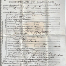 John and Helena Evans marriage certificate