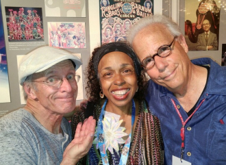 Steve Smith and Chris Bricker with Alice Clark Brown.